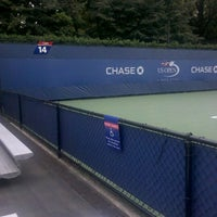 Photo taken at Court 14 - USTA Billie Jean King National Tennis Center by Jessica on 8/21/2012