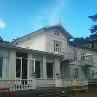 Photo taken at Villa Bellevue, Hanko by Leena S. on 7/1/2012