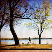 Photo taken at Lake Calhoun by Jesse V. on 4/11/2012