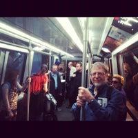 Photo taken at Denver International Airport Train by Noah G. on 3/23/2012