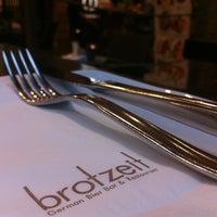 Photo taken at Brotzeit German Bier Bar & Restaurant by wesley L. on 7/1/2012