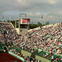 Photo taken at Court Suzanne Lenglen by Patrick D. on 6/2/2012