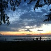 Photo taken at Bagan Lalang Beach by Chia S. on 5/5/2012