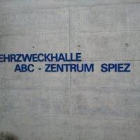 Photo taken at Mehrzweckhalle ABC-Zentrum Spiez by Kevin Jan M. on 4/27/2012