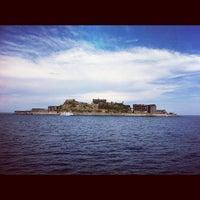 Photo taken at Hashima (Gunkanjima) Island by Kazumi K. on 8/17/2012
