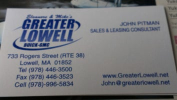 Greater Lowell Buick GMC