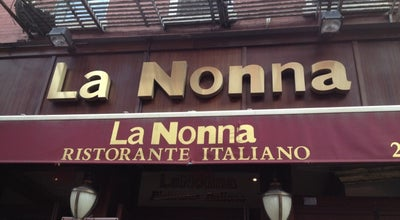 Photo of Italian Restaurant La Nonna at 134 Mulberry St, New York City, NY 10013, United States