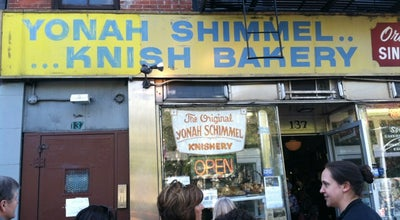 Photo of Bakery Yonah Shimmel Knish Bakery at 137 E Houston St, New York, NY 10002, United States