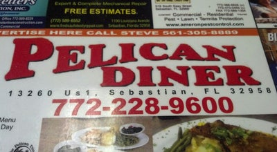 Photo of American Restaurant Pelican Diner at 13260 Us Highway 1, Sebastian, FL 32958, United States