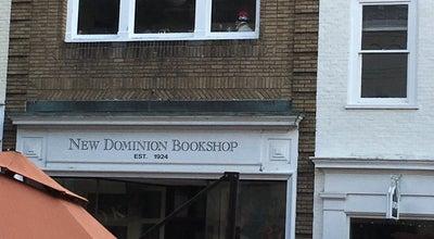 Photo of Bookstore New Dominion Book Shop at 404 E Main St, Charlottesville, VA 22902, United States