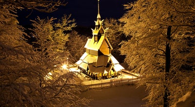 Photo of Historic Site Fantoft Stavkirke at Paradis, Bergen, Norway
