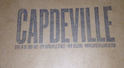 Photo of New American Restaurant Capdeville at 520 Capdeville St, New Orleans, LA 70130, United States