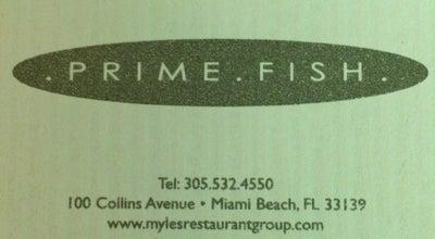 Photo of American Restaurant Prime Fish at 100 Collins Ave, Miami Beach, FL 33139, United States