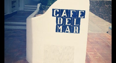 Photo of Mediterranean Restaurant Cafe del Mar at Carrer De Lepant, 4, Sant Antoni de Portmany 07820, Spain