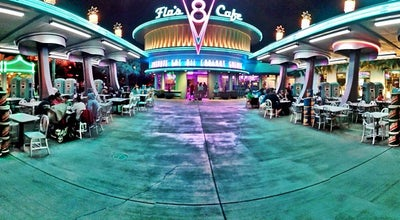 Photo of American Restaurant Flo's V8 Cafe at 1313 Disneyland Drive, Anaheim, CA 92802, United States
