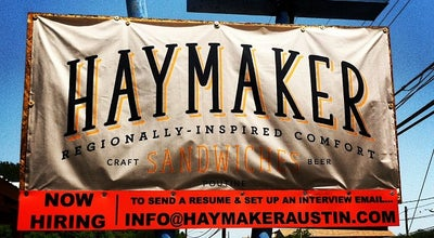 Photo of American Restaurant Haymaker at 2310 Manor Rd, Austin, TX 78722, United States