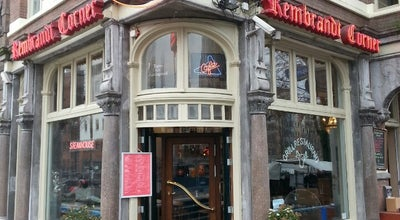 Photo of Restaurant Rembrandt Corner at Jodenbreestraat 2, Amsterdam 1011NK, Netherlands