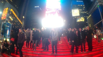 Photo of Plaza Red Stairs Times Square at Times Square, New York, NY 10036, United States