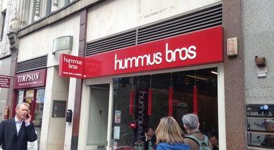 Photo of Mediterranean Restaurant Hummus Bros at 128 Cheapside, London EC2V 6BT, United Kingdom