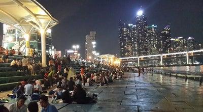 Photo of Beach 민락수변공원 at 수영구 광안해변로 361, 부산광역시, South Korea