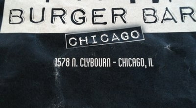 Photo of American Restaurant Burger Bar at 1578 N Clybourn Ave, Chicago, IL 60642, United States