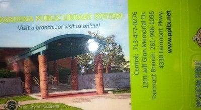 Photo of Library Pasadena Public Library (Fairmont Branch) at 4330 Fairmont Pkwy, Pasadena, TX 77504, United States