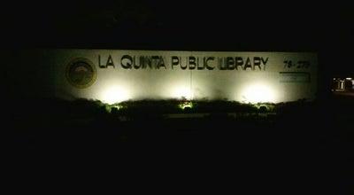 Photo of Library La Quinta Public Library at 78275 Calle Tampico, La Quinta, CA 92253, United States