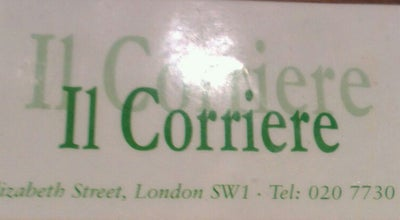 Photo of Cafe Il Corriere at 6 Elizabeth St, London SW1, United Kingdom