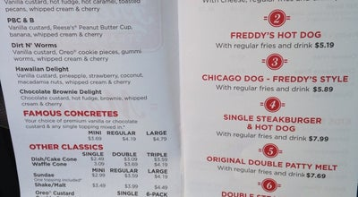 Photo of Burger Joint Freddy's Frozen Custard & Steakburgers at 7732 Milwaukee Ave, Lubbock, TX 79424, United States