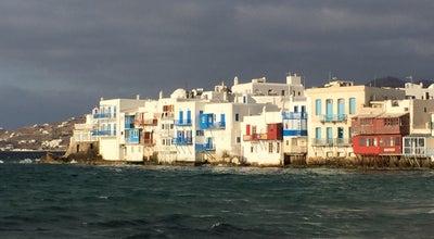 Photo of Seafood Restaurant Little Venice at Mitropoleos Georgouli, Mykonos Town, Greece