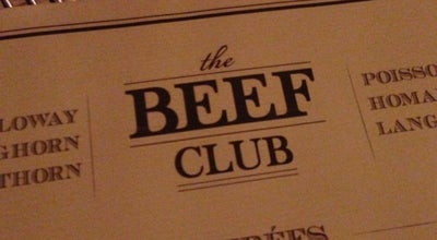 Photo of French Restaurant The Beef Club at 58 Rue Jean Jacques Rousseau, Paris 75001, France
