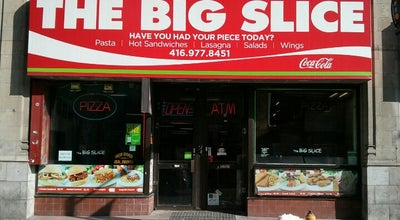 Photo of Pizza Place Big Slice Pizza at 385 Yonge St., Toronto, ON M5B 1S1, Canada