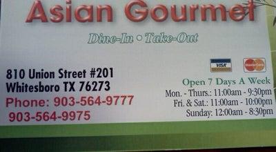 Photo of Restaurant Asian Gourmet at 810 N Union St, Whitesboro, TX 76273, United States