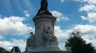 Photo of Monument / Landmark Place de la Republique at Paris, France