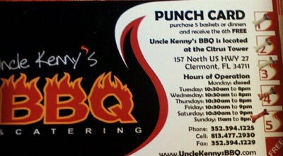Photo of American Restaurant Uncle Kenny's BBQ at 157 N Highway 27, Clermont, FL 34711, United States