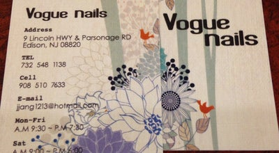 Photo of Spa Vogue Nails at 9 New Jersey 27, Edison, NJ 08820, United States