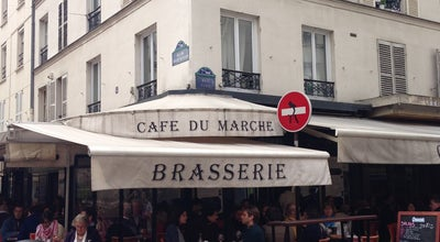 Photo of French Restaurant le cafe du marche at 38 Rue Cler, Paris 75007, France