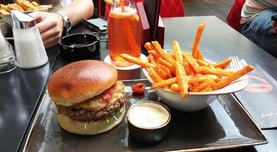 Photo of American Restaurant Freigeist Cafe|Bar|Burger at Klosterwiesgasse 2, Graz 8010, Austria