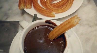 Photo of Cafe Chocolateria San Gines at Pasadizo De San Ginés 5, Madrid 28013, Spain
