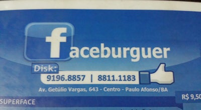 Photo of Burger Joint Faceburguer at Paulo Afonso, Brazil