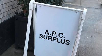 Photo of Other Venue A.P.C Surplus at 92 Perry St, New York, NY 10014, United States