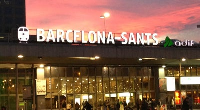 Photo of Train Station Estación de Barcelona Sants at Plaça Dels Països Catalans, Barcelona 08014, Spain