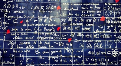 Photo of Monument / Landmark Le Mur des Je t'aime at Square Jehan Rictus, Paris 75018, France