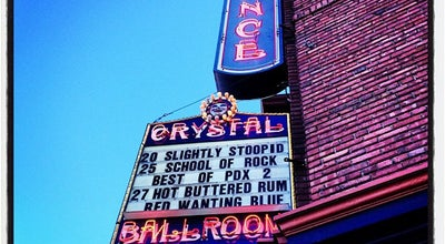 Photo of Concert Hall Crystal Ballroom at 1332 W Burnside St, Portland, OR 97209, United States