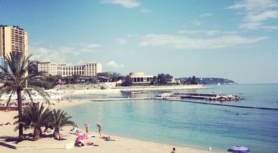 Photo of Beach Plage du Larvotto at Avenue Princesse Grace, Monaco 98000, Monaco