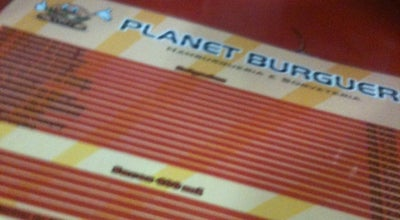 Photo of Burger Joint Planet Burguer at Rua Augusto Cavalcante, Arcoverde, Brazil