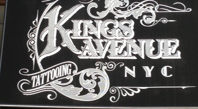 Photo of Tattoo Parlor Kings Avenue Tattooing at 188 Bowery, New York, NY 10012, United States
