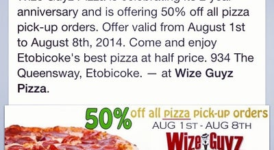 Photo of Bar Wize Guyz Pizza at 934 The Queensway, Etobicoke, ON M8Z 1P4, Canada