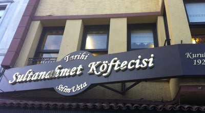 Photo of Turkish Restaurant Sultanahmet Köftecisi at Sururi Mah. Saka Mehmet Sok. No:31 Eminönü Fatih, İstanbul, Turkey