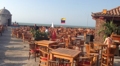 Photo of Caribbean Restaurant Cafe Del Mar Cartagena at Baluarte De Santo Domingo, Cartagena 00000, Colombia